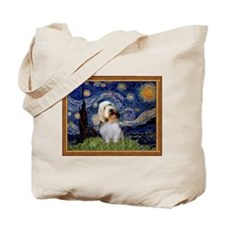 Starry Night PBGV Tote Bag