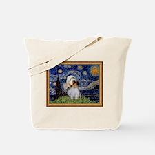 Starry Night PBGV Tote Bag