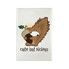 Cute but Vicious! Rectangle Magnet