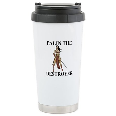Sarah Palin the Destroyer Stainless Steel Travel M