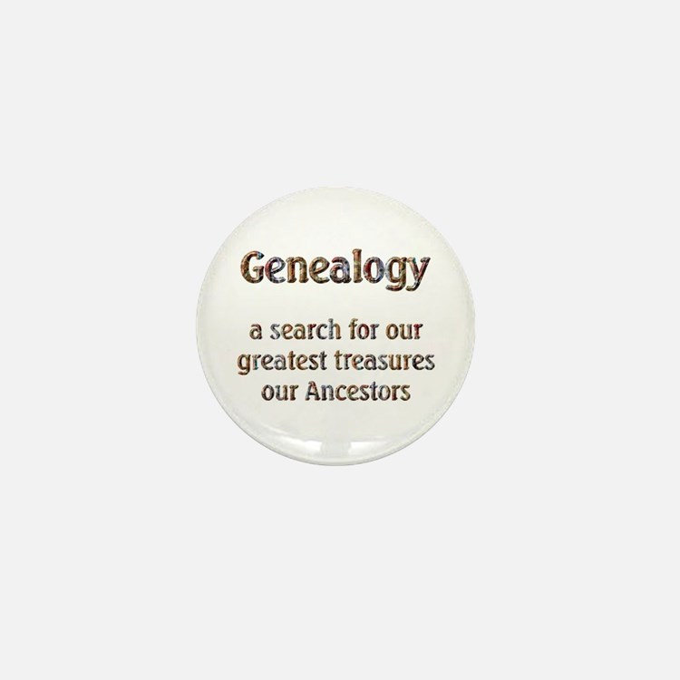 Genealogy Treasures Mini Button