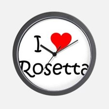 Unique Rosetta Wall Clock