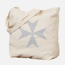 Silver Maltese Cross Tote Bag