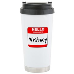 Hello my name is Whitney Stainless Steel Travel Mu