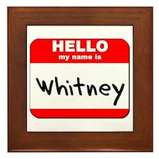 Hello my name is Whitney Framed Tile