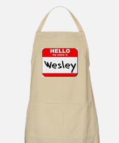 Hello my name is Wesley BBQ Apron