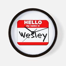 Hello my name is Wesley Wall Clock