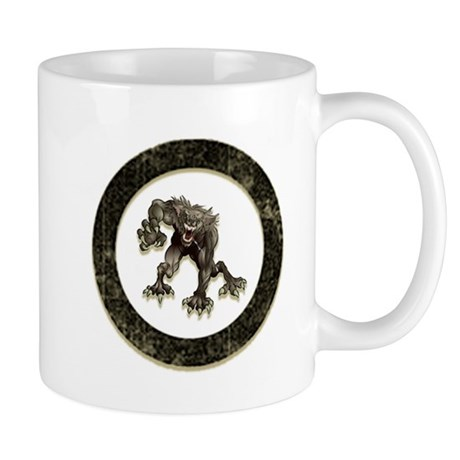 werewolf circle Mugs