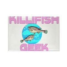 Killifish Geek Rectangle Magnet