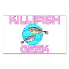 Killifish Geek Rectangle Decal