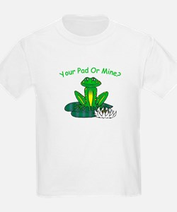 Your (Frog) Pad or Mine Kids T-Shirt
