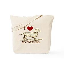 I love my Weiner Dog! Tote Bag