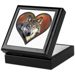 Wolf Heart Keepsake Box