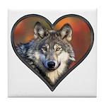 Wolf Heart Tile Coaster