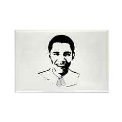 Military Obama Rectangle Magnet (100 pack)