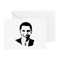Catholic Obama Greeting Card