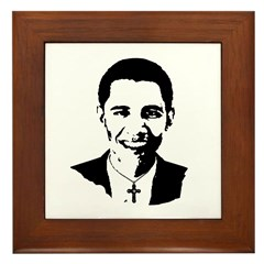 Catholic Obama Framed Tile