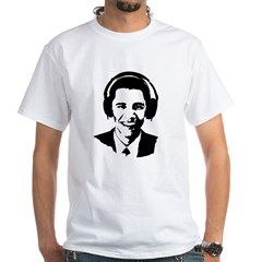 Obama Headphones White T-Shirt