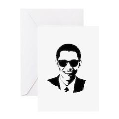 Obama Raybans Greeting Card