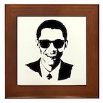Obama Raybans Framed Tile