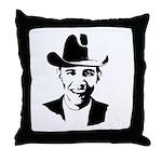 Cowboy Obama Throw Pillow
