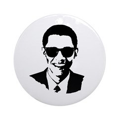 Obama Raybans Ornament (Round)