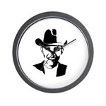 Cowboy Obama Wall Clock