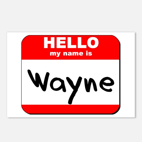 Hello my name is Wayne Postcards (Package of 8)