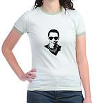 Hipster Obama Jr. Ringer T-Shirt