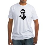 Hipster Obama Fitted T-Shirt