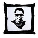 Hipster Obama Throw Pillow
