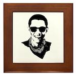 Hipster Obama Framed Tile