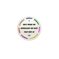 Genealogy Everyday Mini Button (10 pack)