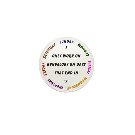 Genealogy Everyday Mini Button
