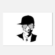 Barack Obama Hipster Glasses Postcards (Package of