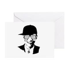 Barack Obama Hipster Glasses Greeting Cards (Pk of