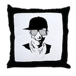 Barack Obama Hipster Throw Pillow