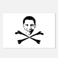 Obama Crossbones Postcards (Package of 8)