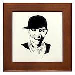 Barack Obama Hipster Framed Tile