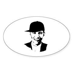 Barack Obama Hat Oval Decal