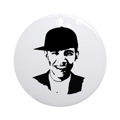 Barack Obama Hat Ornament (Round)