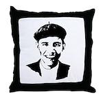 Barack Obama Beret Throw Pillow