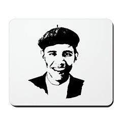 Barack Obama Beret Mousepad
