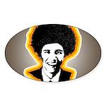 Barack Obama Bandana Oval Sticker
