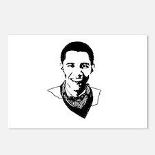 Barack Obama Bandana Postcards (Package of 8)