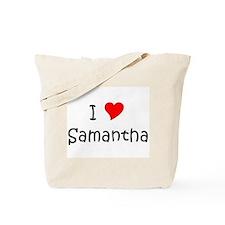 Unique I love samantha Tote Bag