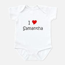 Unique I love samantha Infant Bodysuit