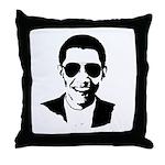 Barack Obama Sunglasses Throw Pillow