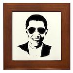 Barack Obama Sunglasses Framed Tile