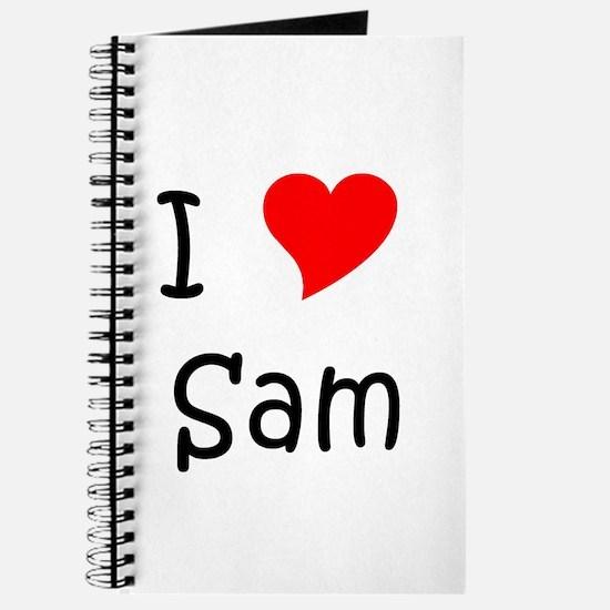 Unique I heart sam Journal